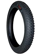 FASTPED Rubber Fatbike Tyre for Fat Bike (Black, 26x4 inches)