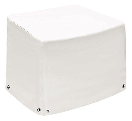Fauteuil lounge   Capot de protection XL avec 2 hauteurs   Coque   Bâche de protection Bâche   Couverture en bâche de camion (650gr/M²)   Tissu en polyester PVC   hochfertige et langlebige météo Capot de protection   75x78 x65x110 Weiß