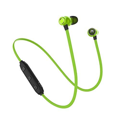 Xmiral Drahtlose Sport-Kopfhörer mit Wasserdichten, schweißfesten HD-Stereo-Ohrhörern mit Mikrofon IPX4 (Grün)