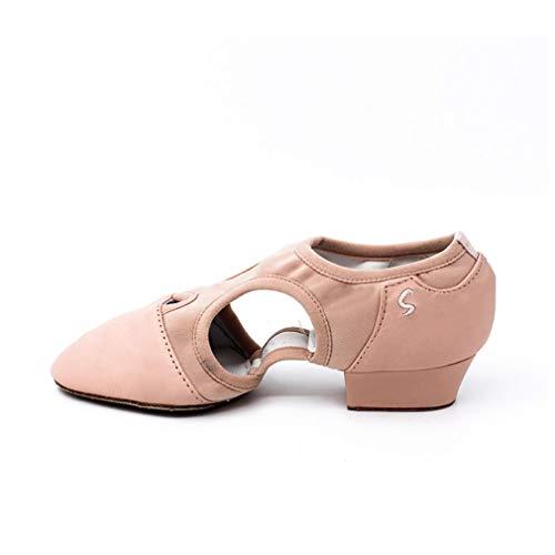 YAN Damentanzschuhe Ballettschuhe Coach Schuhe Soft Bottom Low Heel Fitness & Cross Training Schuhe Sport Schuhe Novelty Schuhe,B,42