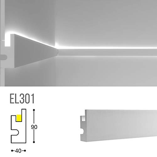 Cadre pour éclairage indirect lED à mural ou plafond-EL301(1,15m)