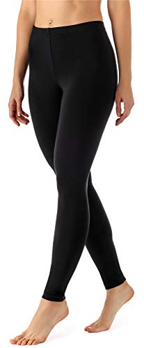 Merry Style Damen Lange Leggings aus Viskose MS10-143 (Schwarz, XL)