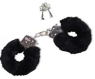 Orion 526134 Love Cuffs schwarz, Liebes-Handschellen abnehmbaren Plüschbezügen inkl. zwei Schlüsseln