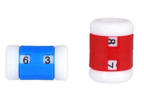 Knitpro - 2 conta punti per maglia, 6,5 mm, colore blu/rosso