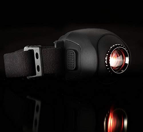 New Direction Tackle H9 Stirnlampe Cree LED (1xWeiß + 1* Rot) USB Aufladbar Kopflampe, Wasserdicht Leichtgewichts Mini stirnlampen Perfekt fürs Laufen, Joggen, Angeln, Campen, für Kinder und mehr