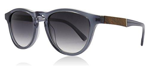 Shwood WAFSELG2 Smoke / Elm Burl Rauchfarben / Elm Burl Francis Round Sunglasses Lens Category 3 Size 48mm