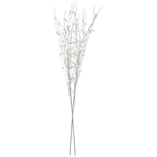 DIVERSE LED-Zweige weiss glitzernd