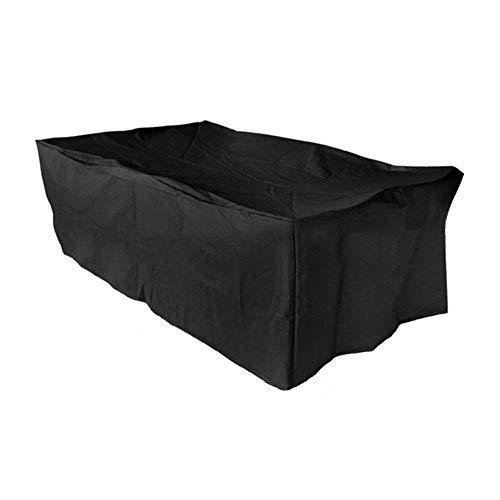 Basong Housse de Protection Bâche Couverture Jardin pour Meuble Barbecue Extérieur Rectangulaire Anti-UV Anti-Pluie Anti-Poussière Noir 213 * 132 * 74CM avec Sac Rangement
