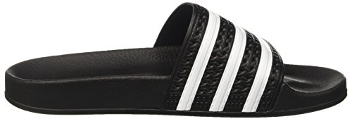 adidas Herren Adilette Pantoletten Schwarz (Black/White/Black)