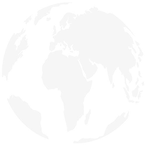 WANDKINGS Wandtattoo - Globus - 50 x 50 cm - Weiß - Wähle aus 5 Größen & 35 Farben
