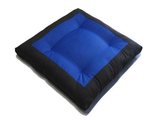 Brand New Center Blue Zabuton, Yoga, Meditation Seat Cushions, Kneeling, Sitting, Supporting Exercise Pratice Zabutons by D&D Futon Furniture