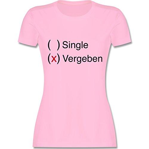 Statement Shirts - Vergeben - Damen T-Shirt Rundhals Rosa