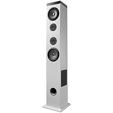 Energy Sistem Tower 5 - Equipo de Home Cinema (Bluetooth, RMS: 60 W, panel táctil, USB/SD y FM), color blanco