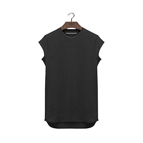 LSDX Herren Sportweste Muskel Fitness Lauftraining Basketball Einfarbig Halbarm T-Shirt -