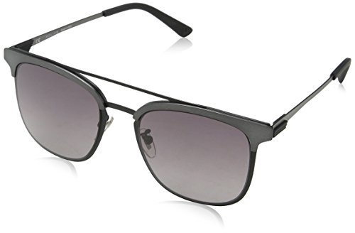 Police Herren Crossover 1 Sonnenbrille, Schwarz (Semi-matt Black), 54