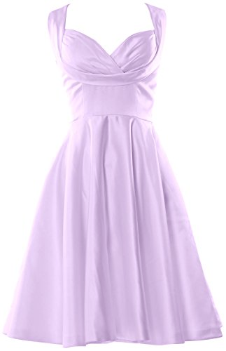 MACloth Women Fitted Sweetheart Knee length Wedding Party Bridesmaid Dress (Custom Size, Lavendel) (Lavendel Bras Womens)