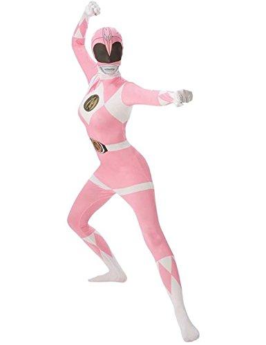 Rubie 's Offizielles Erwachsene 's Pink Ranger 2nd Skin Kostüm–groß (Halloween Ranger Power)
