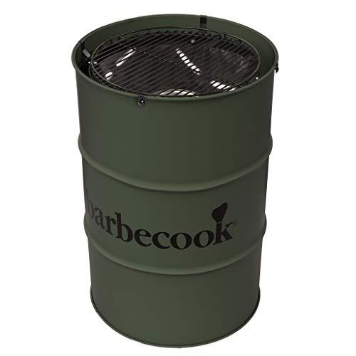 Barbecook Edson - Barbacoa de carbón Vegetal con Forma de Barril, Parrilla cromada Ajustable, diámetro...