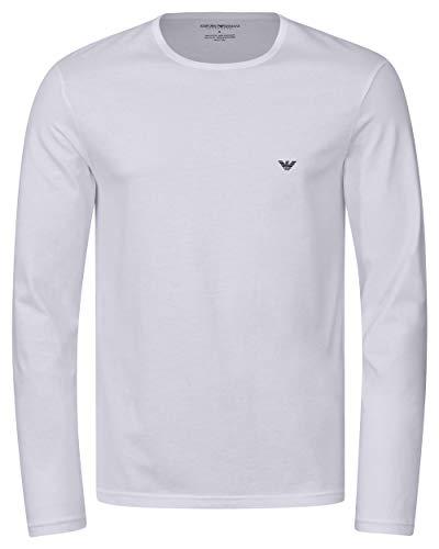 Armani Weiß Langarm (Emporio Armani Langarm Shirt M White (00010))