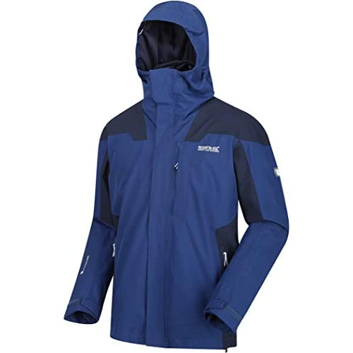 315ZYaPt0CL. SS500  - Regatta Men's Wentwood Iv Waterproof & Breathable Technical Hooded 3-in-1 Jacket With Insulated Hybrid Inner