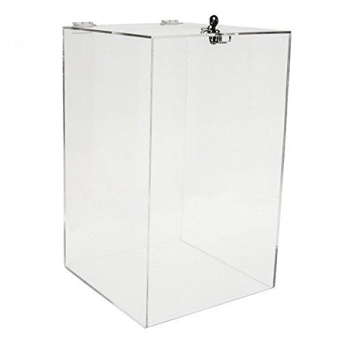 Avà srl Urna da banco in plexiglass Trasparente - Misure: 30x30x H 50 cm.