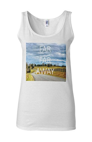 Far Far Away Nature Holiday Novelty White Femme Women Tricot de Corps Tank Top Vest **Blanc