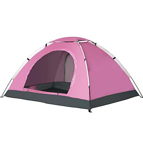 TOOSD Leichtes Zelt 2 Mann Dome Zelt Gute Belüftung WasserdichtRAINPROOF & UV-Beständigkeit für Trekking Camping Outdoor Festival mit kleinem Packmaß einfacher Aufbau, Pink
