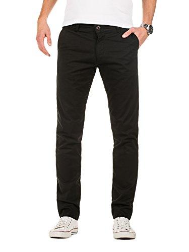 Yazubi Herren Chino Hose, Modell Dustin, Chinohose by YZB Jeans, Schwarz (Black 194008), W33/L32 (Denim-jeans Schwarze)