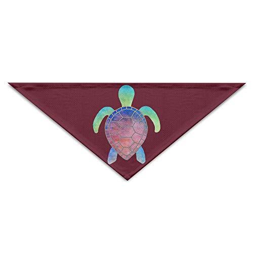 Hectwya Cute Colorful Turtle Mehrfarbige Haustierbandanas für Ihren Hund oder Ihre Katze klein bis ()