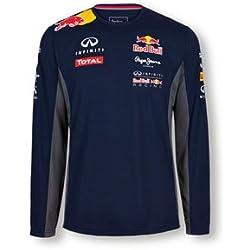 Pepe Red Bull Racing Collection OTL LS Functional Men, T-Shirt Homme, Bleu Marine, Medium