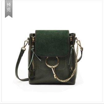 Mefly Leder Tasche Leder Handtasche Diagonal Single Schultertasche Aus Leder Blackish green