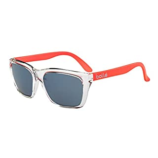 Bollé Erwachsene Sonnenbrille 527, Shiny Crystal/Orange Temples, Medium, 12046