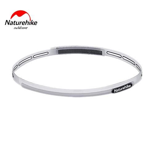 Preisvergleich Produktbild Sanzhileg Naturehike Männer und Frauen elastische Haarbänder mit Silikon-Griff leichte und bequeme Schweißbänder - transparent