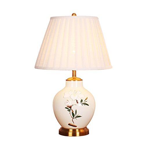 ANDEa Céramique Lampe de Table, Classique Blanc Lampe de Table Salon Chambre Restaurant Lampe de Table Lampe de chevet Bouton Interrupteur E27 * 1 Originalité (taille : 38 * 61CM)