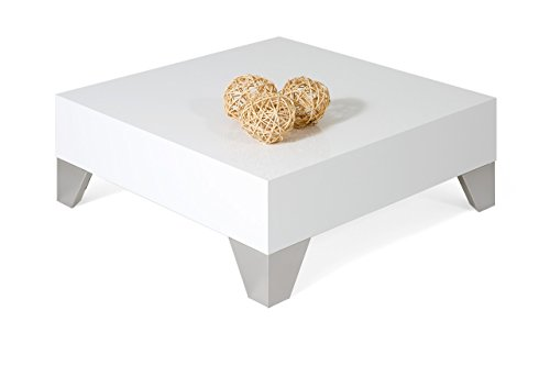 Top mobilifiver Evo 60Coffee Table, Wood, white gloss, 60x 60x 24cm Special