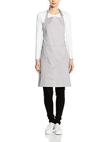 Premier Workwear Colours Bib Apron with Pocket, Hauts Femme, Gris-Grey (Silver), Grand