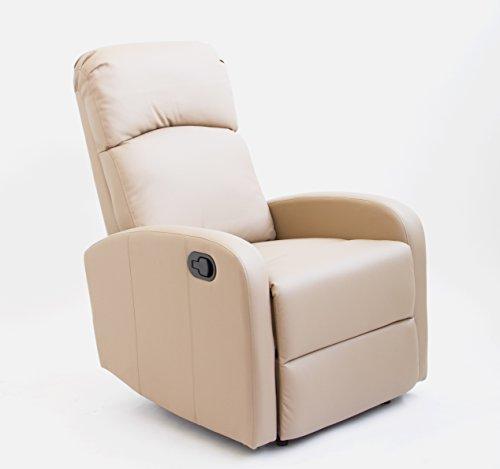 Sillón de Relax Premium Comfort - Full PU Anti-Cuarteo. Pared Cero (Marrón)