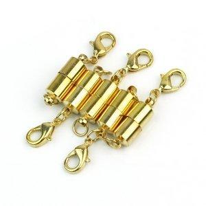 1 X 5 stk. Magnet Halsketten Verschluss Kettenverschluss Magnetverschluss Vergoldet