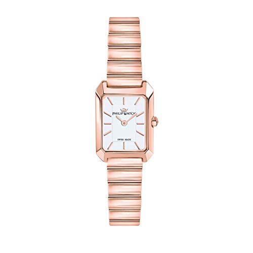 Philip Watch Women's Watch, EVE Collection, Quartz Movement and Three Hands Version, Equipped with a Stainless Steel and Rose Gold Bracelet - R8253499505