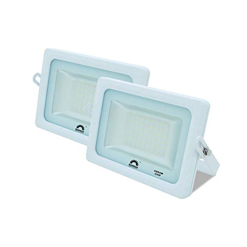 Pack de 2 Focos LED Exterior T-SPACE Blanco · Proyector LED Extraplano...
