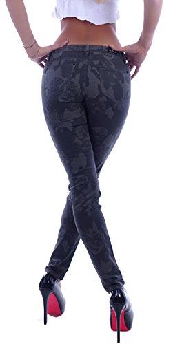 Damen Chinos Chino Hose Stoffhose Reiterhose Hüfthose Business XXS 32 XS 34 S 36 M 38 L 40 XL 42 Grün