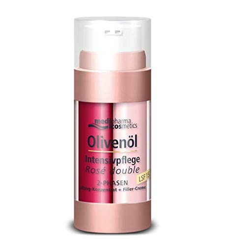 Olivenöl Intensivpflege Rosé double von Medipharma cosmetics 2-Phasen | LSF 15 2-PHASEN Lifting-Konzentrat + Filler-Creme