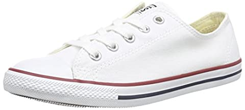 Converse As Dainty Ox, Sneakers Basses mixte adulte Blanc (Blanc/Rouge), 38 EU