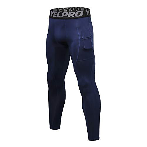 Celucke Sport Leggings Laufhose Herren Strumpfhose, Männer Compression Tights Funktionswäsche Fitness Kompression Hose, mit Quick-Dry-Funktion