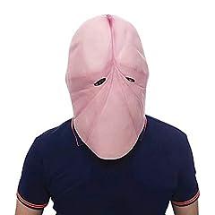 Idea Regalo - Amosfun Maschera di Halloween Divertente in Lattice Testa Maschera scherzosa scherzoso Maschera Costume da burla