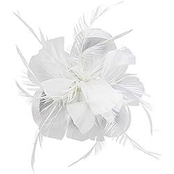 Hotstylezone - Tocado para el pelo, diseño de flores, tamaño pequeño Blanco blanco 85