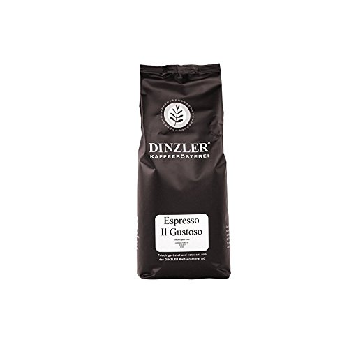 Dinzler Kaffeerösterei - Espresso Il Gustoso - Espresso, Café, Gourmet Kaffee, als ganze Bohne (1kg ganze Bohne)