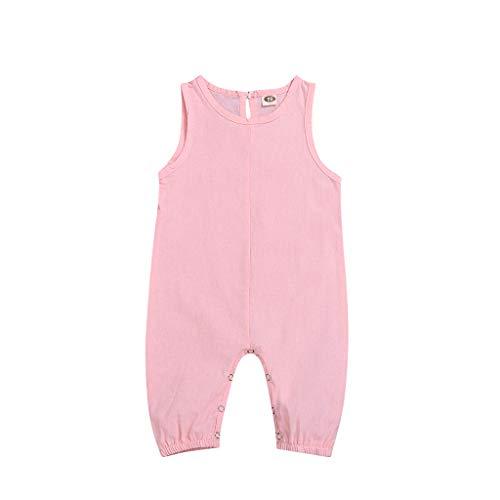 squarex Sommer Neugeborenen Baby Jungen Mädchen Kinder Ärmellose Spielanzug Candy Farbe Overall Overall Outfits Kleidung