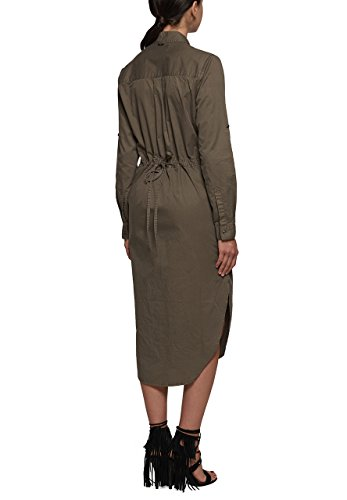 Replay - Robe - Moulante - Manches Longues - Femme gris ardoise