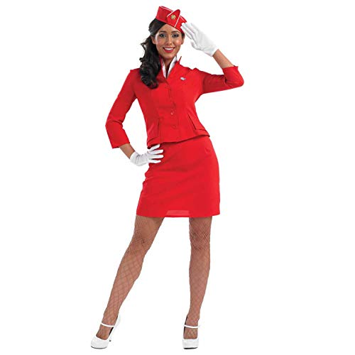 Fun Shack Damen Costume Kostüm, Cabin Crew Red, m
